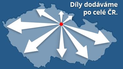 Díly dodáváme po celé ČR